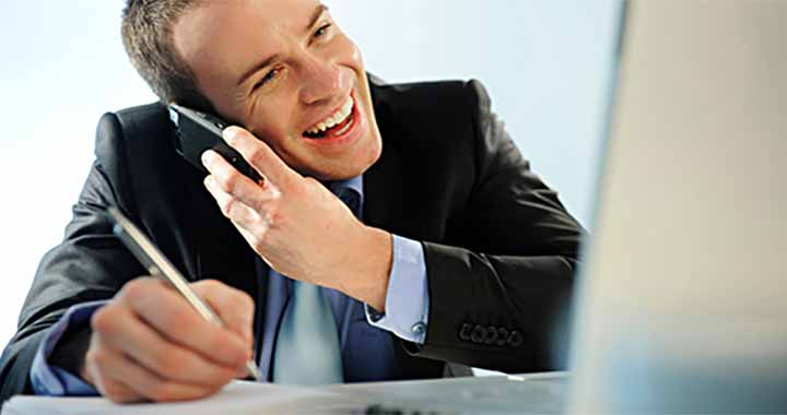 Negócios ao telefone